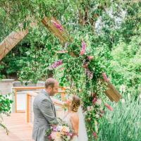 Spring Wedding Ceremony with Arbor